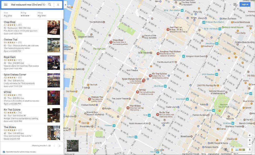 Google maps - nearby