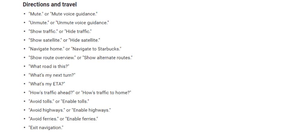 Google maps - voice instructions