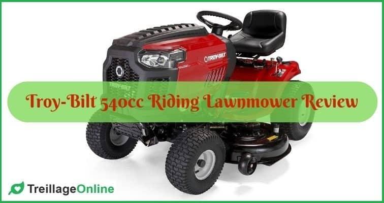 Troy-Bilt 540cc Riding Lawnmower Review