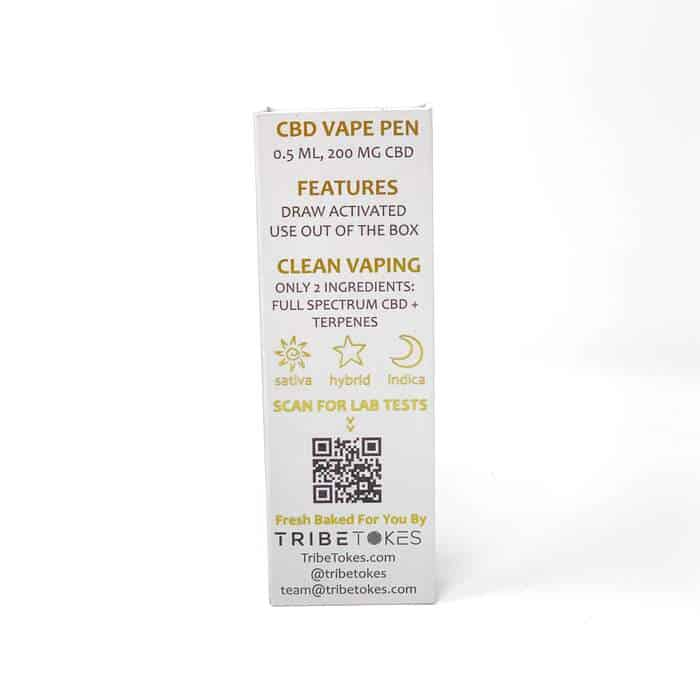 CBD Vape Pen All-In-One Battery & Oil Cartridge (0.5 ml, 200 mg)