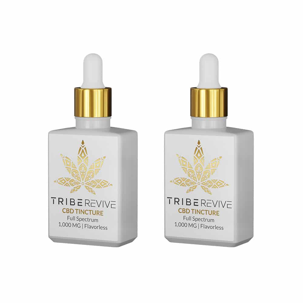 Tribe Revive CBD Tincture 1000mg (Flavorless) - Pack of 2