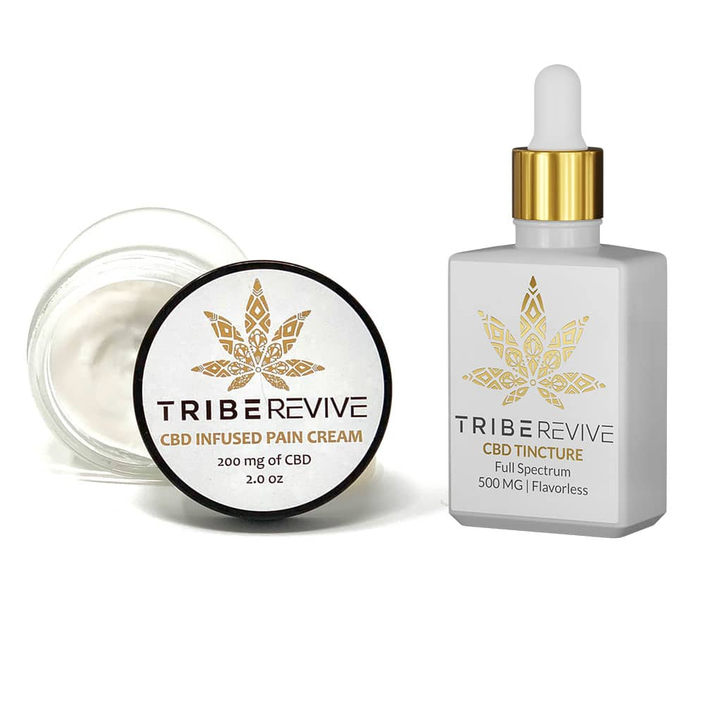 TribeREVIVE CBD Infused Pain Cream (Moderate) & CBD Tincture