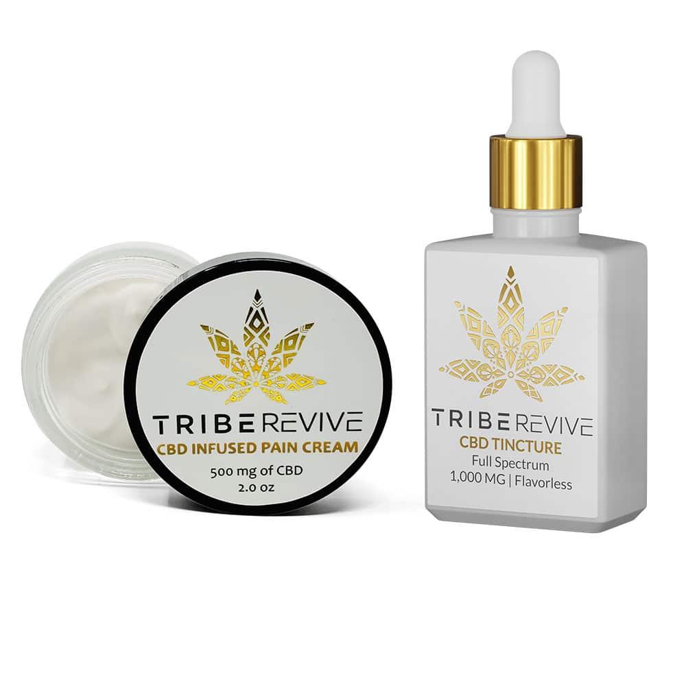 TribeREVIVE CBD Infused Pain Cream (Moderate) & CBD Tincture
