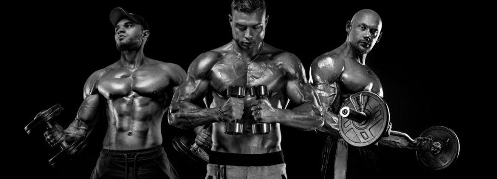 # young male bodybuilders showing the results they have received from using Creatine HCL