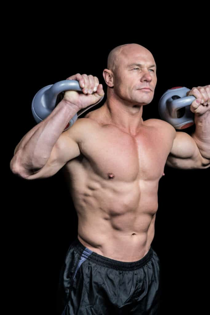 a male over the age of 40 supplementing with Test RX to increase his testosterone to be able to cut weight and build lean muscle