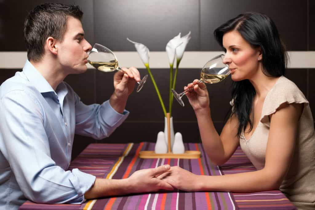Vienna's secret dinner date with white wine