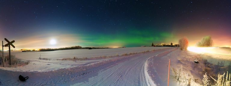 The Aurora Borealis lights are so vibrant at night... especially in the winter!
