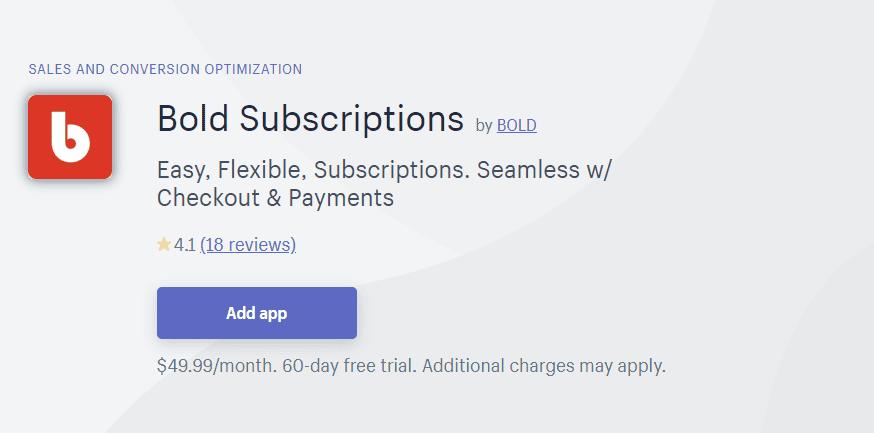 Applications d'abonnement Shopify