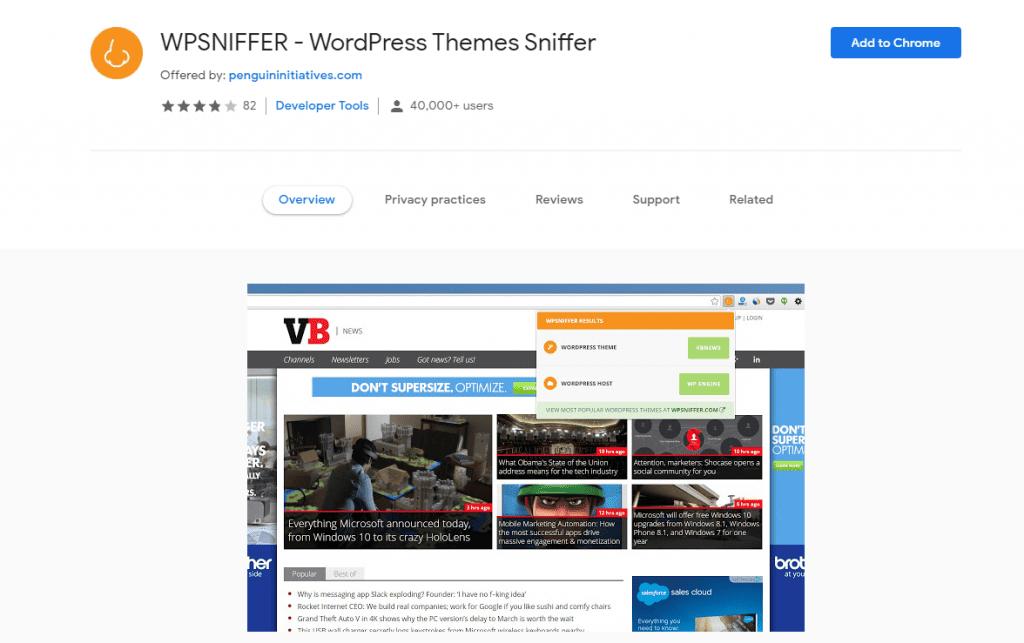 Sites de détection de thèmes WordPress