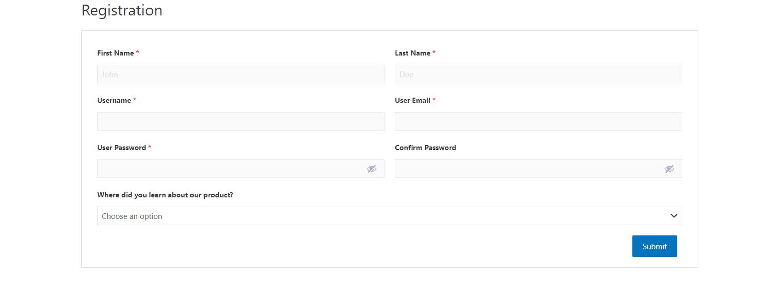 Plug-in d'enregistrement des utilisateurs.