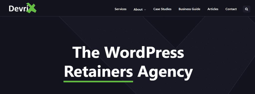Entreprises de développement Web WordPress