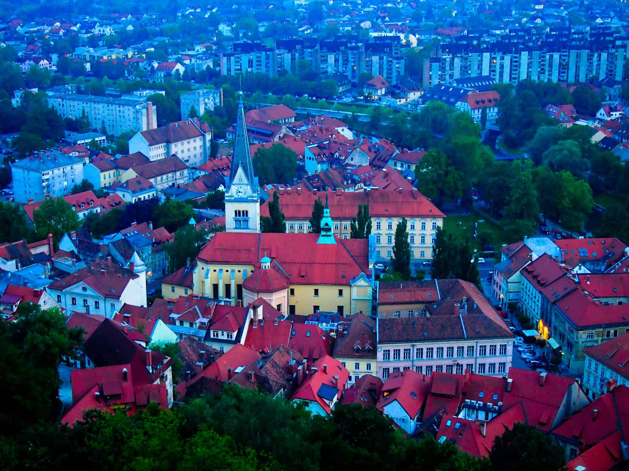 Ljubljana view from the castle
