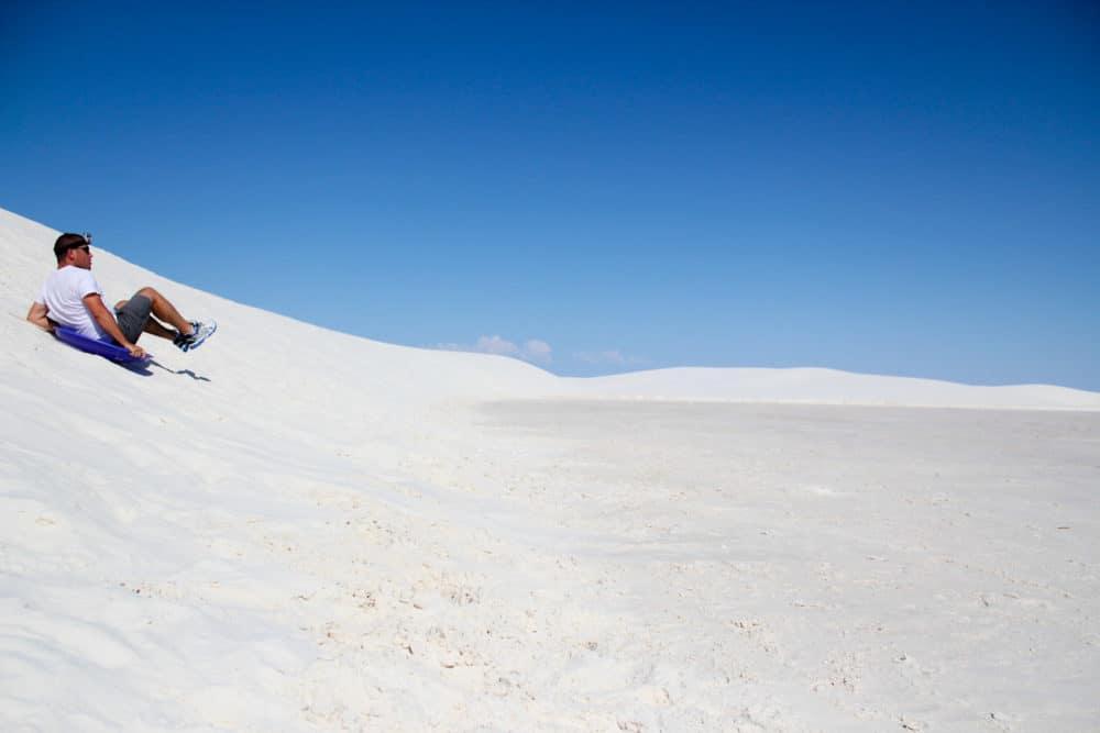 White Sands - sled