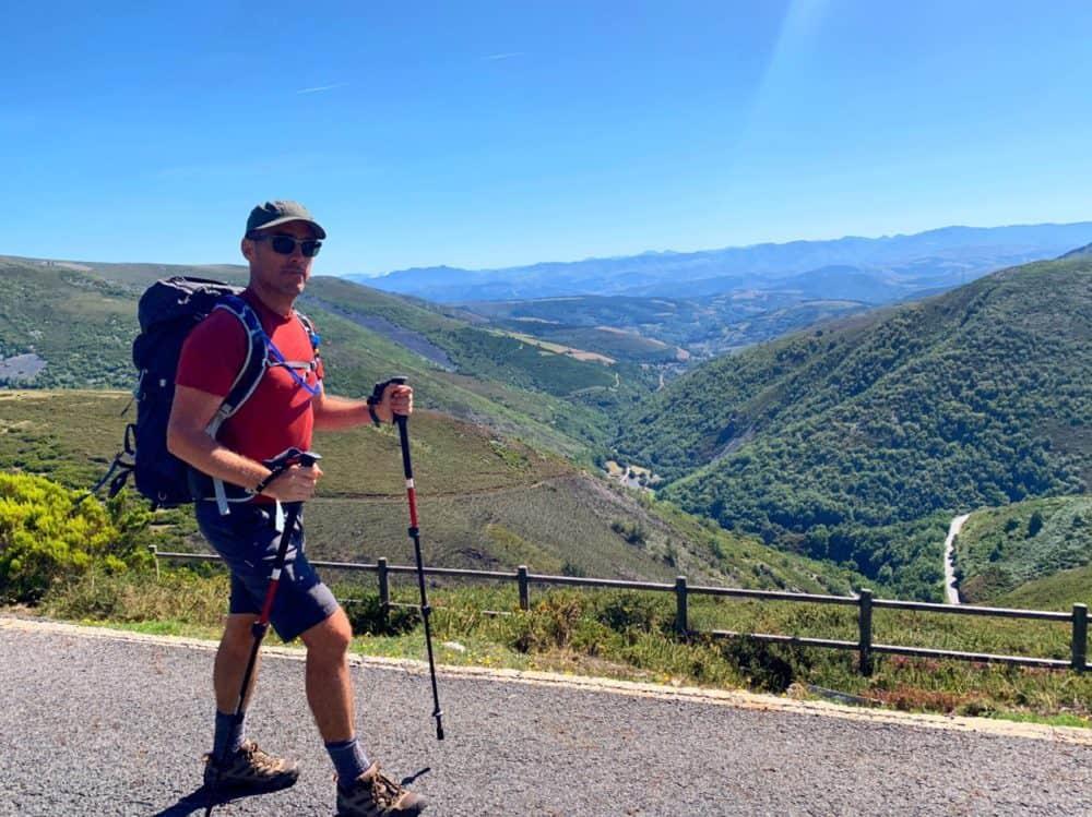 Dave walking on the Camino Primitivo