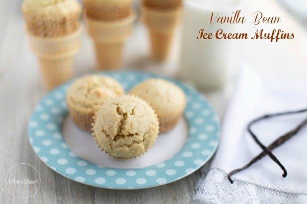 Vanilla Bean Ice Cream Muffins