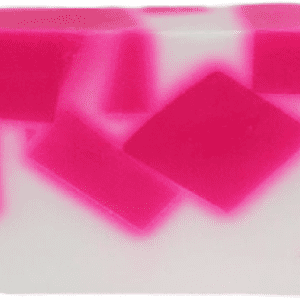 White and pink coconut scented soap bar