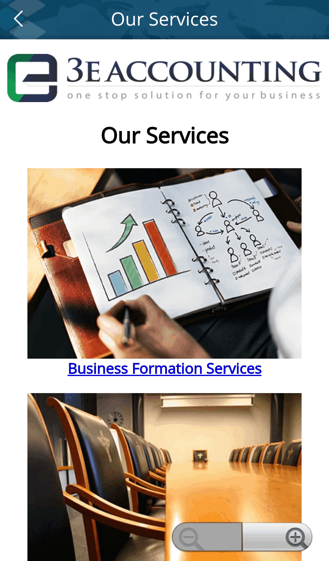 List of 3E Accounting International Services