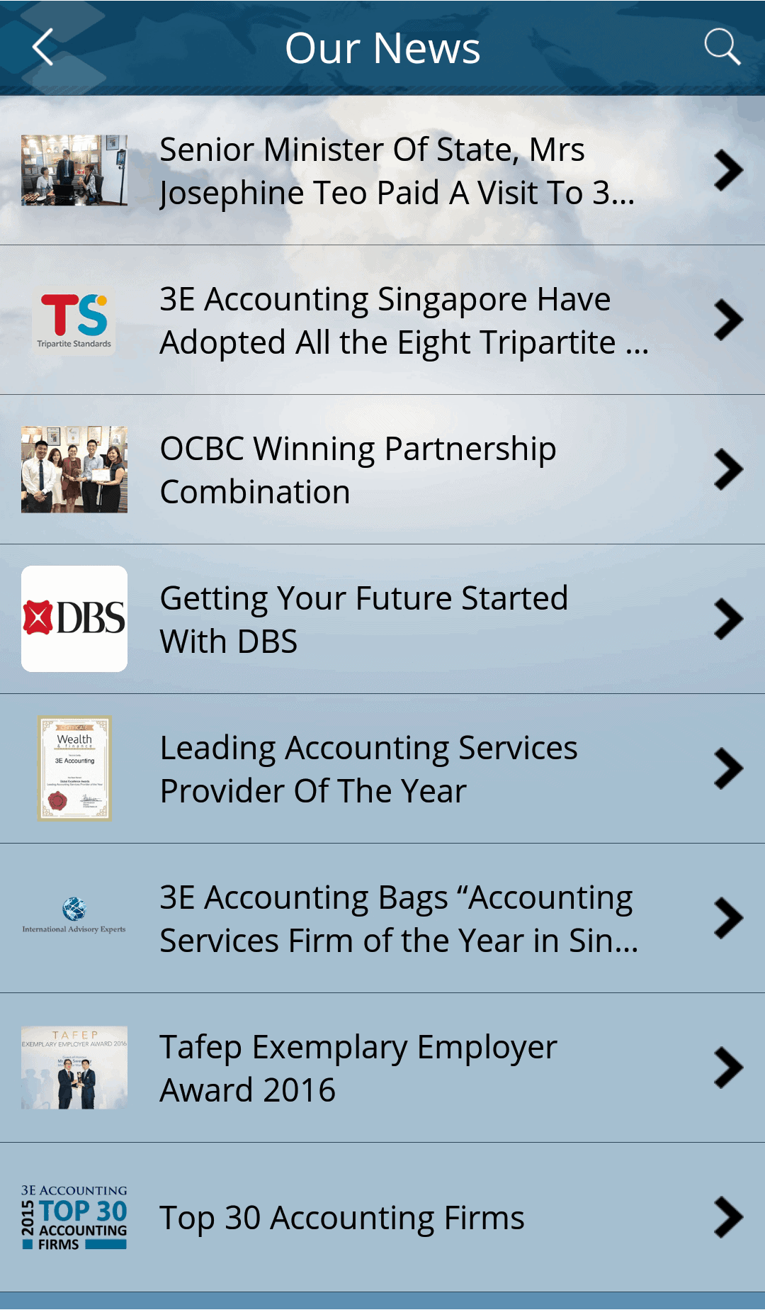 A list of all 3E Accounting news