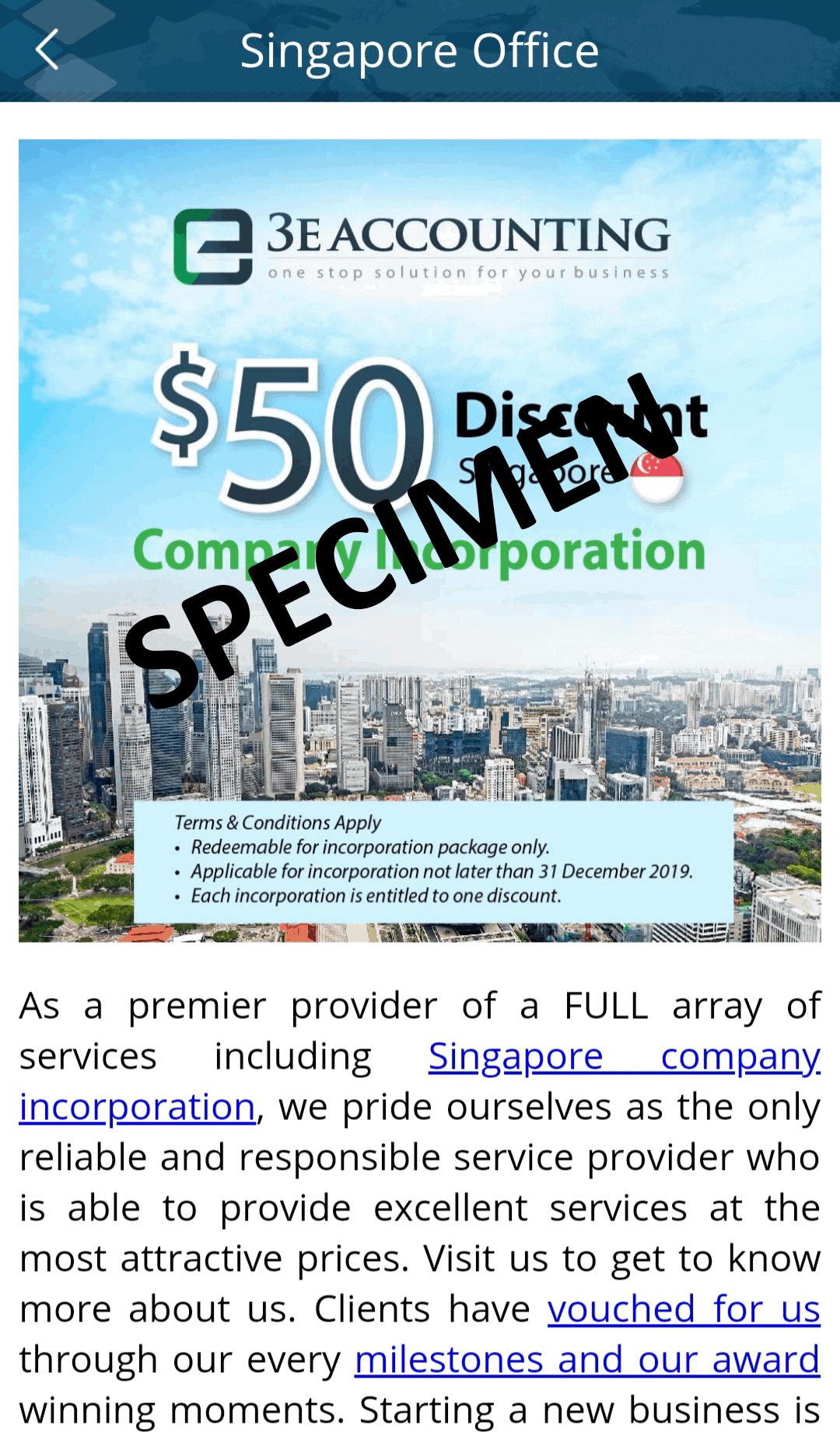 Limited Offer: Singapore Incorporation Promotion