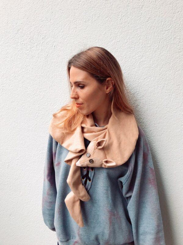 Animal scarf for Women - Desert Fox - Look