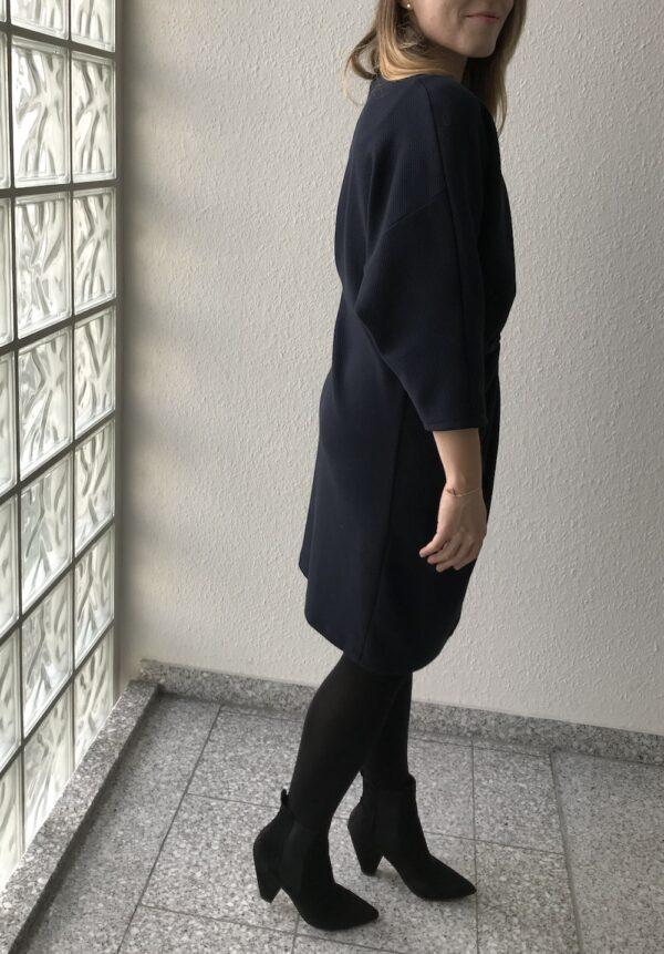 Deep Blue asymmetric dress