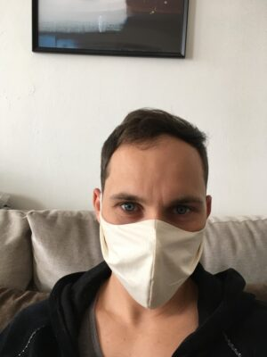 Organic cotton face mask - men - front