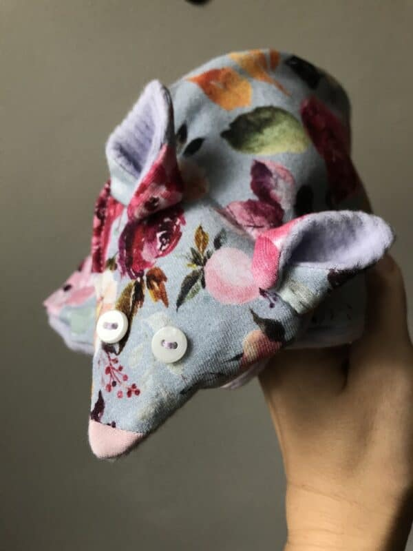 Organic Scarf for Kids - Fox - Floral - Close-Up