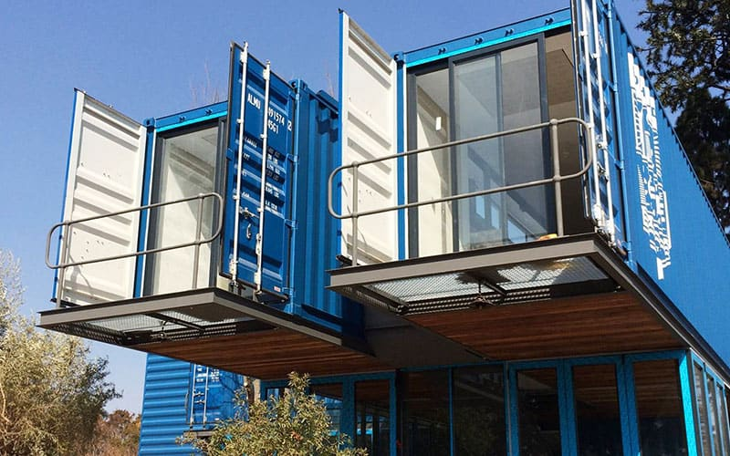 converted shipping containers for retail