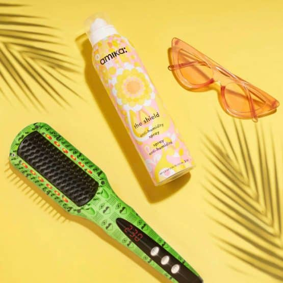 the shield anti-humidity spray and soho ired flesh fix with leaves and sunglasses