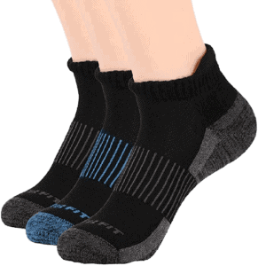 Three Pack Unisex Copper Infused No Show Socks from Copper Fit