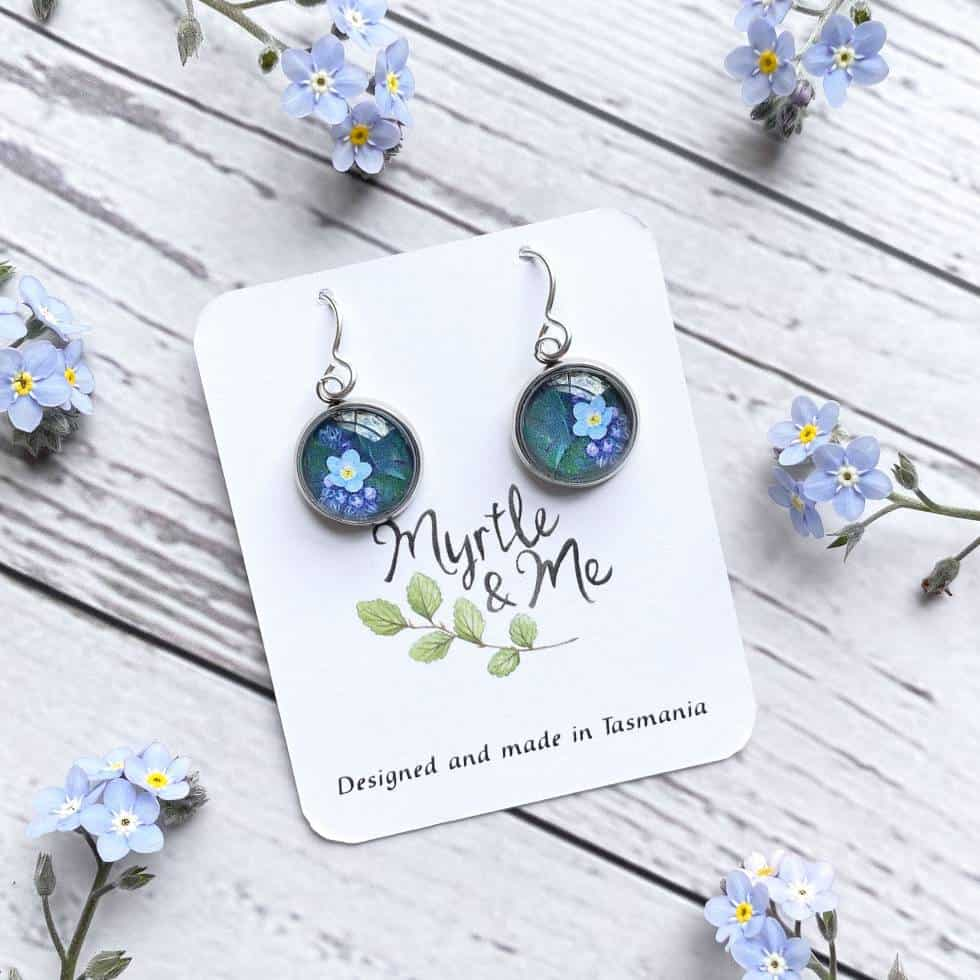 Forget Me Not Drop Earrings Myrtle And Me