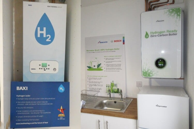 The hydrogen-fuelled boilers