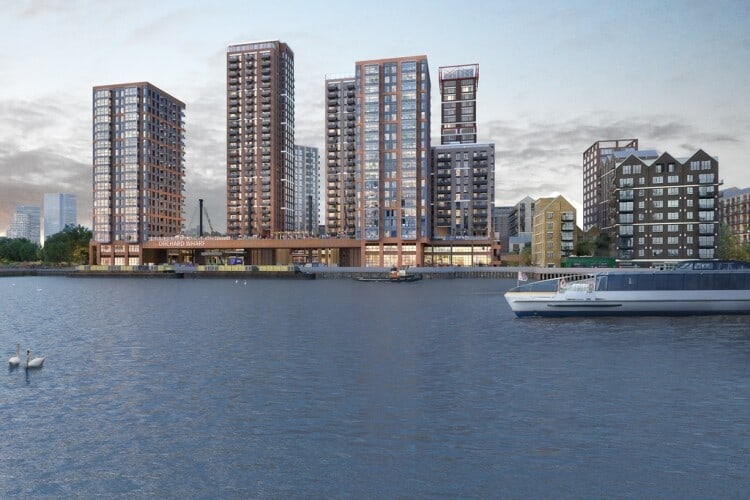 JTP Architects' designs for Orchard Wharf