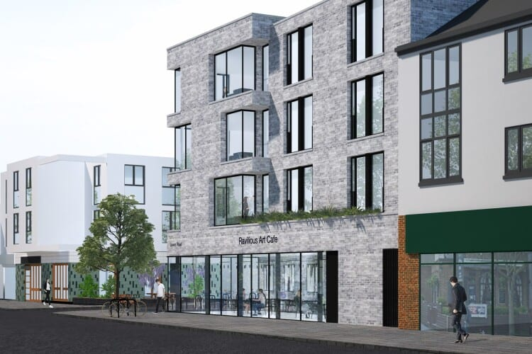 CGI of the planned student flats