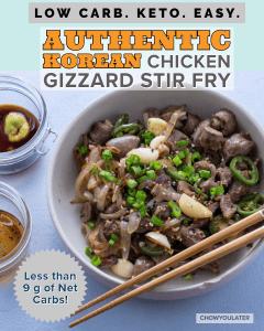 Chicken Gizzard Stir Fry