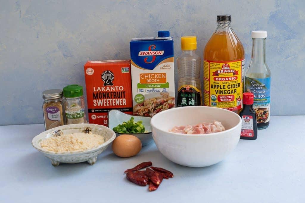 Keto General Tso's Chicken Ingredients List