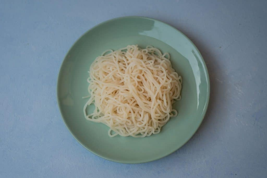 Nasoya Pasta Zero on plate