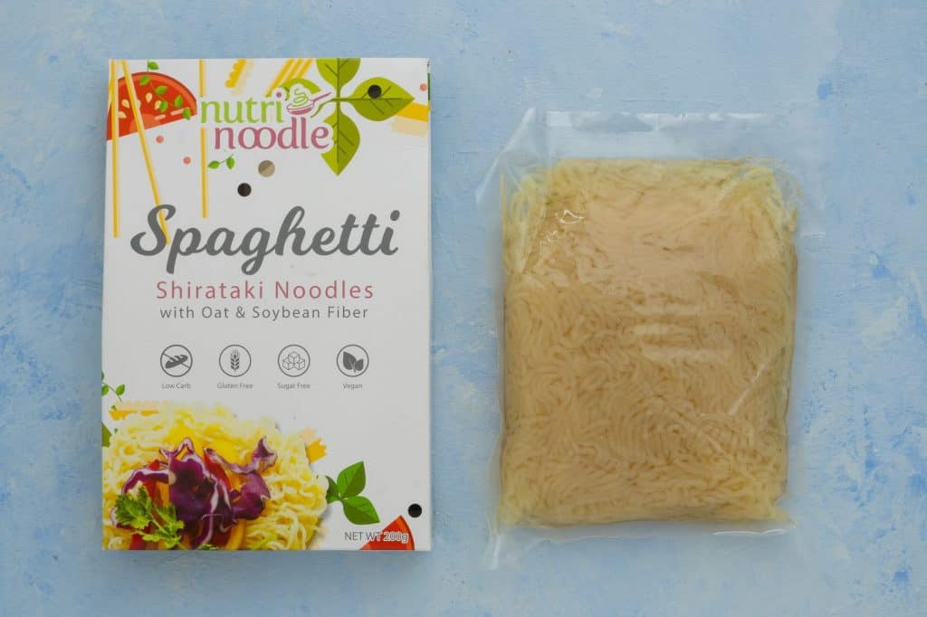 Nutri Noodle opened package with inner pouch