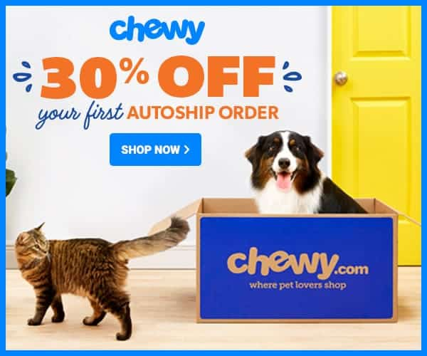 Chewy 30% OFF Pop Up