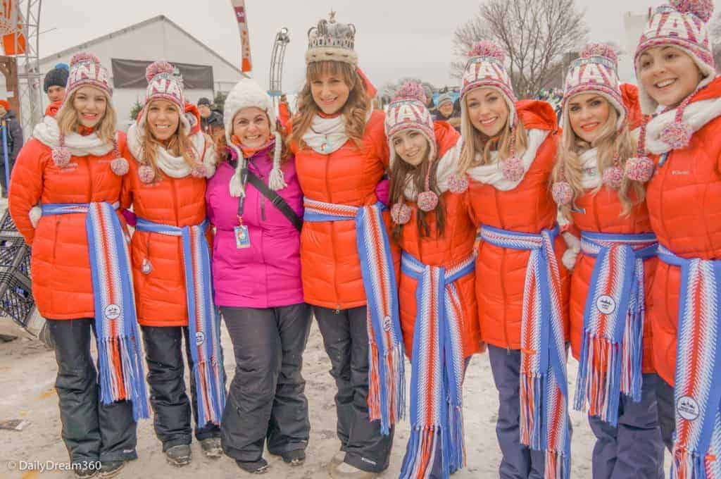 Meeting the Queen and Duchesses of Quebec Winter Carnival