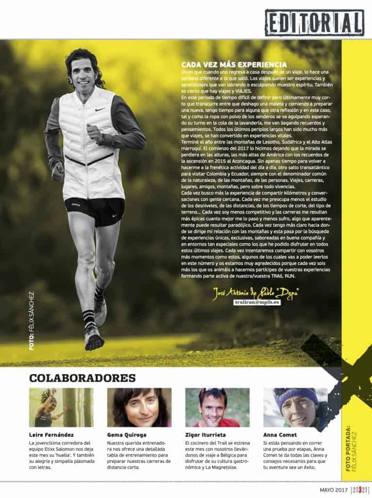 Editorial Revista TrailRun 21