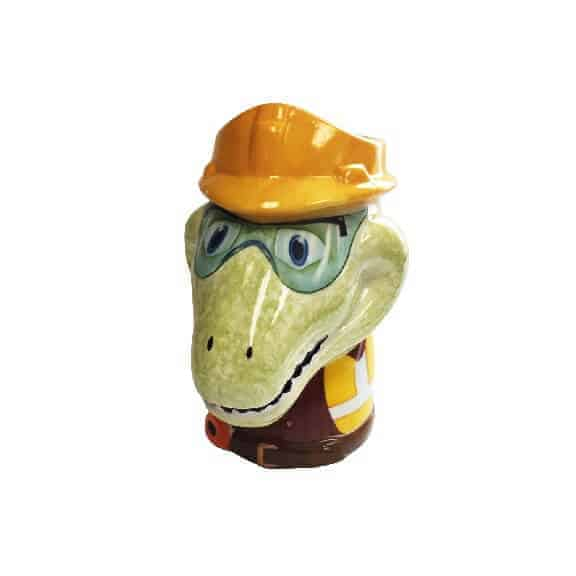 D-Rex ceramic coffee mug front D-Rex
