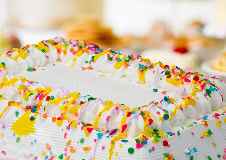 Ice cream cake with sprinkles