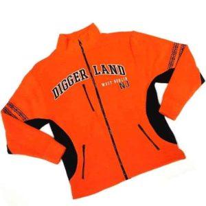 Diggerland reddish-orange fleece jacket