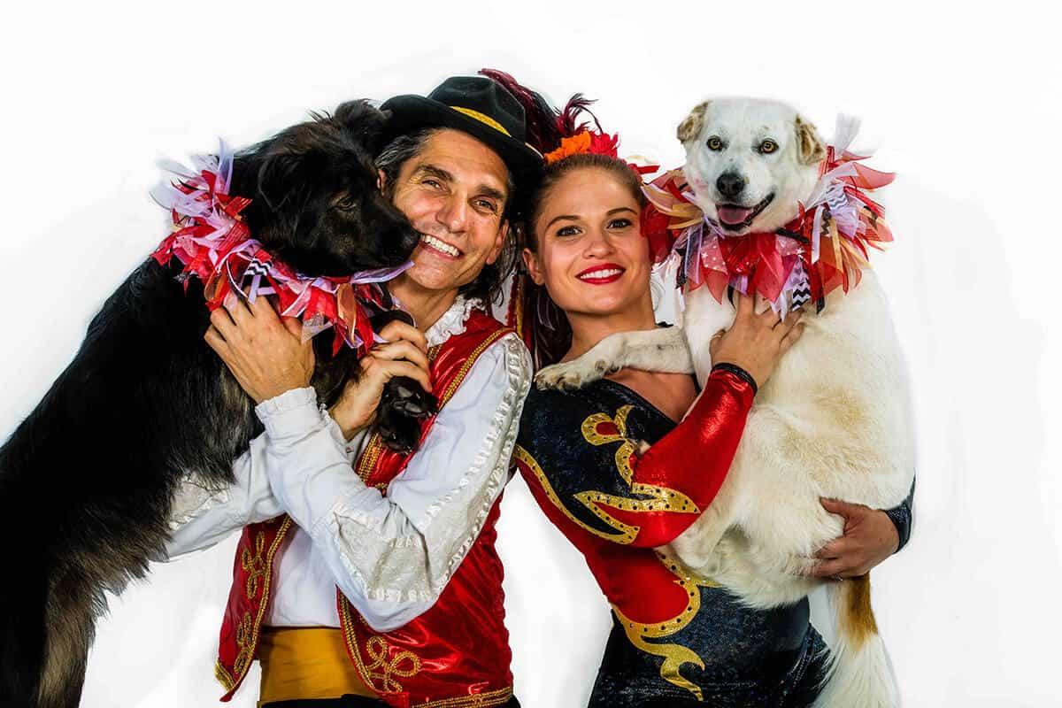 Circus Stella features balance artist Dextre Tripp and his wife, aerialist Jana Colgin.