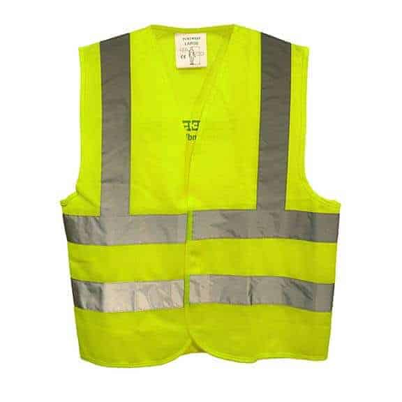Diggerland yellow construction vest front