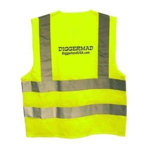 Diggerland yellow construction vest back