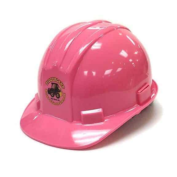 Pink Diggerland hard hat front