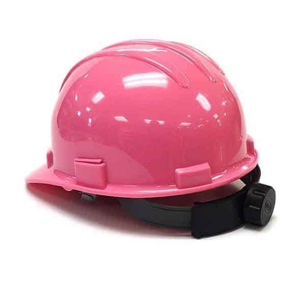 Pink Diggerland hard hat back