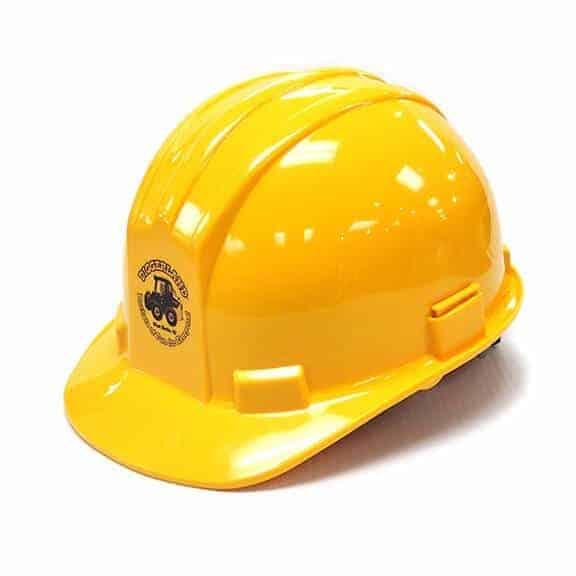 Yellow Diggerland hard hat side